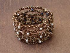 Reversible Gladiator Cuff Bracelet (workshop) by Sue Jackson and Wendy Hubick