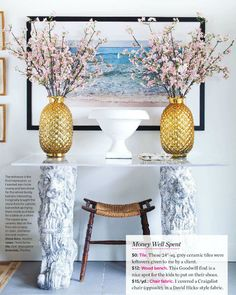 Emily Norris Ontario, Canada  lake home fm House & Home mag as fd on Marcus Design blogsite. Budget decor at it's best.
