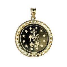 Michael Anthony Jewelry® 10K Miraculous Mary Digital Hologram Pendant
