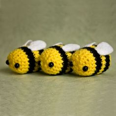 Amigurumi Bumblebees by cutedesigns, via Flickr