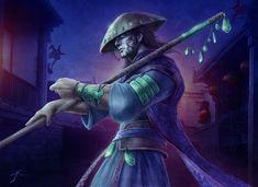 Demon Hunter -  Legend of the Five Rings cardgame - Jason Engle - Deviant Art