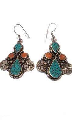 Turquoise Tribal Earing