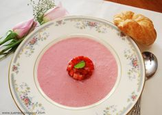 Create something special this Mother& Day with this delicate, lightly sweet and oh so pretty Strawberry Bisque. Strawberry Soup, New Recipes, Soup Recipes, Favorite Recipes, Vegetarian Recipes, Recipies, Dinner Recipes, Bridal Party Foods, Tea Time