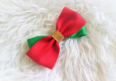 Christmas Hair Bows, Girls Hair Accessories, Girl Hairstyles, Satin, Etsy Shop, Inspired, Trending Outfits, Unique Jewelry, Handmade Gifts