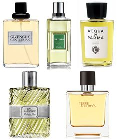 Men's Recommended Fragrances. A few classics worth sniffing out include Dior Eau Sauvage, Terre d'Hermès, Guerlain Vetiver, Acqua di Parma Colonia and Givenchy Gentleman.