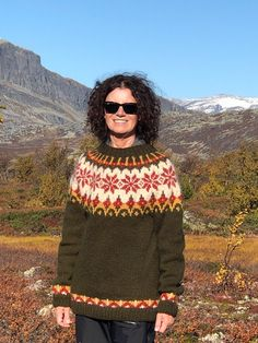 Excited to share this item from my #etsy shop: Norwegian sweater own design - handknit #sweater #handknit #knitted #norwegian #icelandic #alafosslopi
