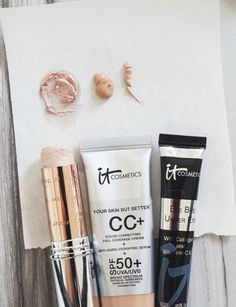 It Cosmetics beauty products, face, skincare, makeup, beauty, CC cream, concealer, highlighter