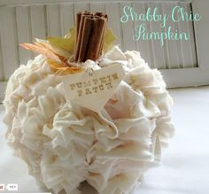 Shabby Chic Pumpkin- My Soulful Home