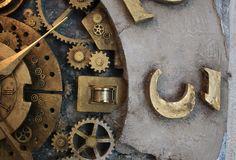 Nowoczesne wnętrza, projekty, aranżacje. Zegar ścienny do salonu.