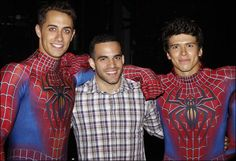 Olympian Danell Leyva, who won a Bronze Medal in the Men's All Around category at the 2012 Olympics, took in the August 23 performance of Broadway's Spider-Man: Turn Off the Dark. He posed for photos with the cast after the show.