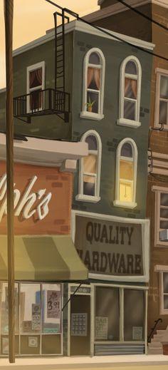Very cartoony. Overall good quality and very inspiring Cartoon Background, Animation Background, Art Background, Bg Design, Game Design, City Illustration, Landscape Illustration, Environment Concept Art, Environment Design