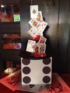 Casino party centerpiece