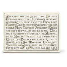 ABC's of Faith Stone Plaque from www.christianbook.com