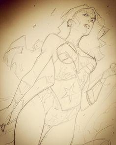 #wonderwoman #sketch #pencil #DCcomics #dc #art by jorge_jimenez_comicbookartist