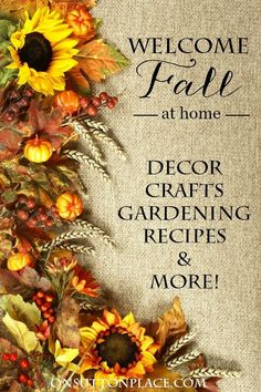 100 Easy Fall Ideas For Your Home   Includes DIY projects, decor, gardening, printables, recipes, crafts and more. Inspiration at your fingertips!