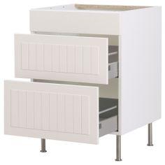 "AKURUM Base cabinet with 3 drawers - white, Ståt white, 15 "" - IKEA $183"