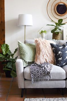 Gorgeous Gray Midcentury Modern Modular Living Room Sofa Delineate Your Dwelling - March 24 2019 at Living Room Sofa, Living Room Furniture, Living Room Decor, Modern Interior Design, Modern Decor, Coastal Living Rooms, Beach House Decor, Home Decor, Trendy Home