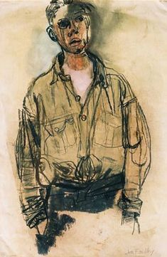 Joan Kathleen Harding Eardley: Artist: the artistic documenter of Glasgow's urban urchins Figure Painting, Figure Drawing, Painting & Drawing, Drawing Heads, Gouache, Popular Artists, Portraits, Pastel Drawing, Western Art