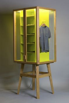 Hierve, ROPERO modular wardrobe. This is a great multi-sided unit for a store display