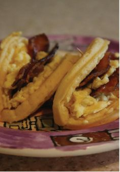 Eggo Waffle Taco – Filled with all of your breakfast favorites! Recipe courtesy of Jaden Heller.