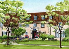 79a8eb9660dd 5x7 Kappa Kappa Gamma House Painting CSU by CindySepuchaStudio