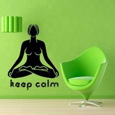 Yoga Wall Decal Girl Words Quotes Keep Calm by WallDecalswithLove ✿ ✿  ☻