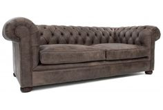 Alfie a Rustic Leather Small Chesterfield from Old Boot Sofas