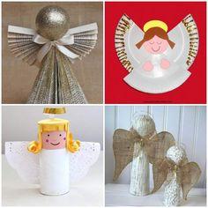 Anjinhos Lindos Feitos com Reciclagem Christmas Time, Xmas, Christmas Ornaments, Kids Crafts, Research Projects, Party Planning, Recycling, Homemade, Holiday Decor