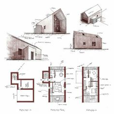 Marvelous Home Design Architectural Drawing Ideas. Spectacular Home Design Architectural Drawing Ideas. Architecture Drawings, Architecture Design, Casa Patio, Building A House, House Plans, Sketches, Exterior, How To Plan, Drawing Ideas