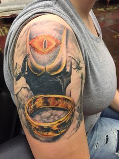 My tattoo lotr lord of the rings nerd lotr tattoo sleeve Nerdy Tattoos, Tattoos For Guys, Tattoos For Women, Hobbit, Lord Of The Rings Tattoo, Lotr Tattoo, Earth Tattoo, Tattoo Ideas, Tattoo Designs