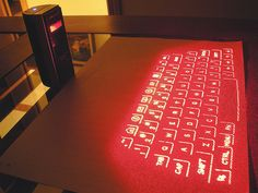 Some Technology Gadgets for #2013.. A laser-projected keyboard!