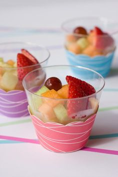 cute way to dress up fruit cups with cupcake liners