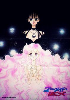 Sailor Moon - Mistress 9 and rini #mermaidpanic