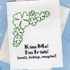 Other Holiday Cards, Print N Stitch - 4x4   St. Patrick's Day   Machine Embroidery Designs   SWAKembroidery.com SewAZ Embroidery Designs
