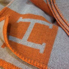 Hermes Thin Blanket Orange