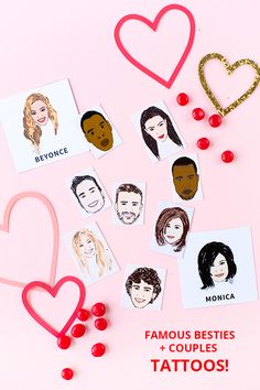 Famous Besties + Couples Tattoos (Free Printable!) | studiodiy.com