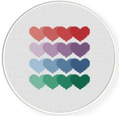 FREE for May 23rd 2014 Only - Heart Pattern Cross Stitch Pattern