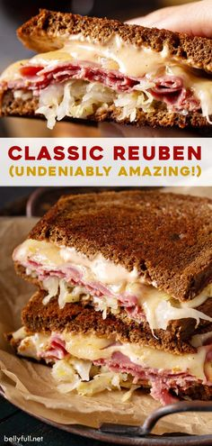 Klassisches Reuben Sandwich - Sandwiches World 2020 Sandwich Reuben, Sandwich Torte, Roast Beef Sandwich, Soup And Sandwich, Recipe For Rueben Sandwich, Reuben Recipe, Gourmet Sandwiches, Best Sandwich Recipes, Dinner Sandwiches