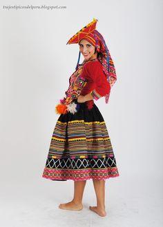 TRAJES TIPICOS DEL PERU Traditional Peruvian Dresses:Traje Típico de Ñusta / Ñusta Costume Consta de: Sombrero, velo, chaqueta, falda interior y falda externa