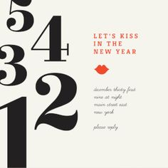 kiss in the new year free new year invitation template greetings island