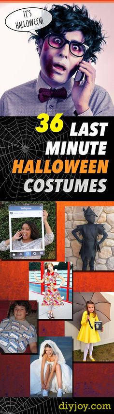 50 DIY Projects You can Make in Under an Hour DIY Halloween - quick halloween costumes ideas