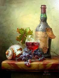 Artist: Toth Gabor ~ Still Life Oil Painting ~ Art Du Vin, Still Life Fruit, Fruit Painting, Wine Art, Painting Still Life, Still Life Photography, Beautiful Paintings, Painting Inspiration, Painting & Drawing