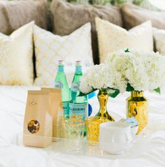 how to prep for houseguests, how to prep for visitors, preparing for visitors, houseguest checklist, houseguest basket, guest basket, style me pretty, style me pretty home, cocktail bar, welcome home cocktails, visitor cocktails, cocktails for guests, houseguest cocktails