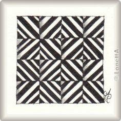 Zentangle-Pattern 'Moving Day' by Margaret Bremner CZT, presented by www.ElaToRium.de