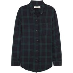 Ipa plaid cotton-twill shirt ($150) ❤ liked on Polyvore featuring tops, blouses, shirts, flannels, shirts & blouses, plaid shirt, plaid top, shirts & tops and tartan plaid shirt