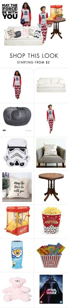 """""""Getting Ready for a Star Wars Night"""" by fashion-designer-12-13 ❤ liked on Polyvore featuring interior, interiors, interior design, home, home decor, interior decorating, Jammies For Your Family, PBteen, Nostalgia Electrics and West Bend"""