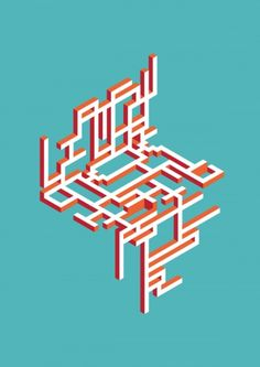 Abstract Geometric Typography on Typography Served