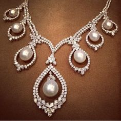 Pearl and Diamond Necklace - Farah Khan Ali