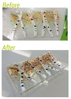 I LOVE these Aspens - and I LOVE before and after shots!  ---Glassateria