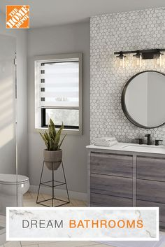Green bathroom: complete guide to decorate this little corner - Home Fashion Trend Modern Bathroom Mirrors, Bathroom Trends, Bathroom Interior, Master Bathroom, Bathroom Vintage, Bathroom Layout, Washroom, Bathroom Ideas, Home Depot